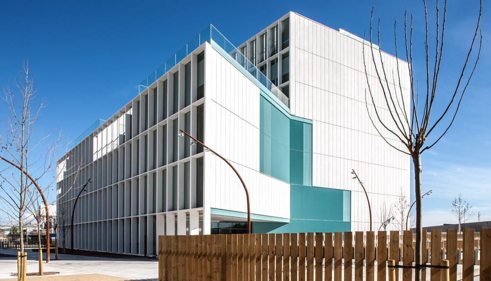Copisa construcción edificio I Campus Diagonal Besos Barcelona