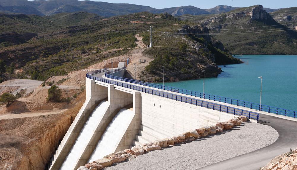 Copisa construcción recrecimiento presa santolea Teruel